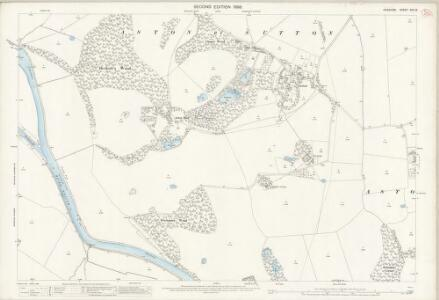 Cheshire XXV.13 (includes: Aston; Frodsham; Kingsley; Sutton) - 25 Inch Map