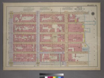 Plate 33, Part of Section 5: [Bounded by E. 47th Street,(East River Piers), First Avenue, E. 42nd Street and Third Avenue.]