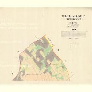 Herlsdorf (Herldowice) - m0687-1-001 - Kaiserpflichtexemplar der Landkarten des stabilen Katasters