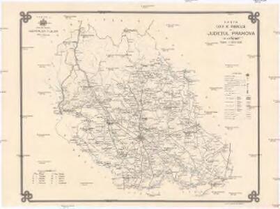 Harta cailor de comunicatie din Judetul Prahova
