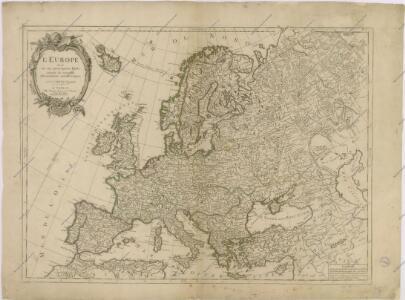 L'Europa divisée en ses principaux Etats suivant les nouvelles observations astronomiques