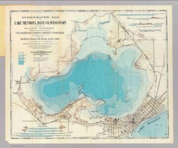 Hydrographic map Lake Mendota.