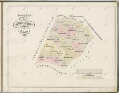 Mapy lesních porostů velkostatku Kout - revír Pec
