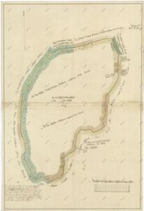 Hraniční mapa mezi panstvími Nové Hrady, Hlubokou a vyšebrodským klášterem u vsi Chuchelec 1