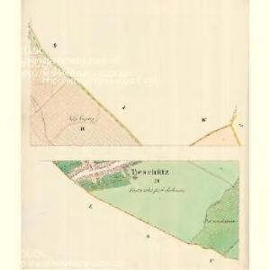 Tieschütz (Tessice) - m3101-1-002 - Kaiserpflichtexemplar der Landkarten des stabilen Katasters