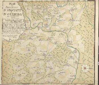 Plan des Baillages D'Umstatt et D'Otzberg