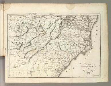 Carte des Provines Meridionales des Etats-Unis.