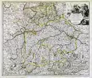 Le theatre de la guerre d'Allemagne dans les cercles de Baviere de Souabe de Franconie [et]c