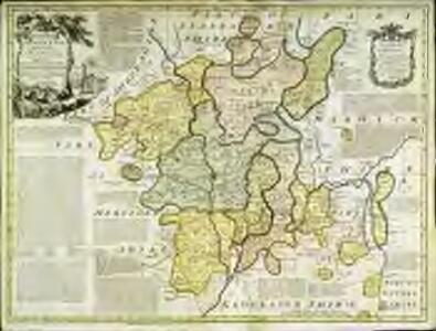 An accurate map of the county of Worcester
