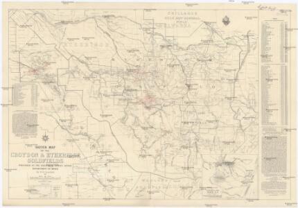 Sketch map of the Croydon & Etheridge goldfields