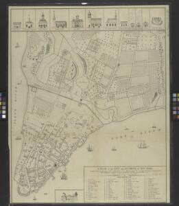 A plan of the city and environs of New York : as they were in the years 1742-1743 and 1744 / drawn by D.G. in the 76th year of his age who had at this time a perfect & correct recollection of every part of the same.
