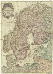 Carte des couronnes du nord comprenant la Suede, le Danemarc, la Norvege la Prusse etc