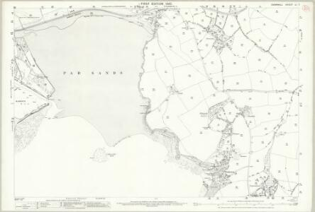 Cornwall LI.7 (includes: Fowey; St Austell; Tywardreath) - 25 Inch Map