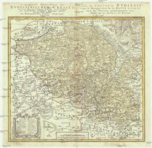 Geographische Verzeichnung des Bvdissinischen Creises in dem Marggrafthum Ober Lavsitz