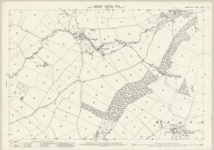 Shropshire LXV.9 (includes: Diddlebury; Heath; Tugford) - 25 Inch Map