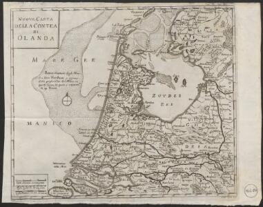 Nuova carta della contea di Olanda