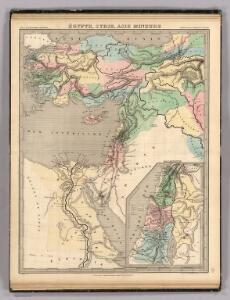 Egypte, Syrie, Asie Mineure.