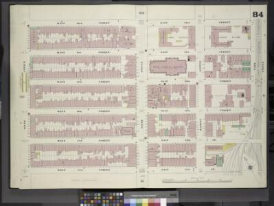 Manhattan, V. 4, Double Page Plate No. 84 [Map bounded by West 52nd St., East 52nd St., Park Ave., East 47th St., West 47th St., 6th Ave.]