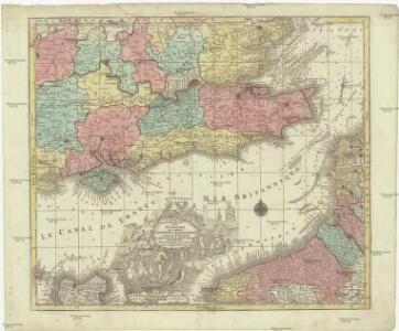 La plus grande partie de La Manche, qui contient les côtes d'Angleterre et celles de France les bords maritimes de Picardie