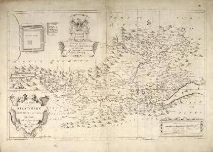 The Mapp of Straithern, Stormount, and Cars of Gourie, with the Rivers Tay and Jern / surveighed and designed by J. Adair ; James Moxon sculp.