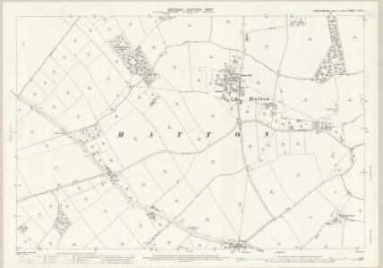 Lincolnshire LXIII.11 (includes: Baumber; Great Sturton; Hatton; Langton by Wragby; Minting) - 25 Inch Map