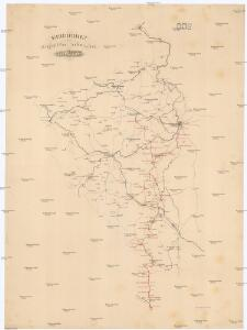 Uibersichtskarte der projektirten böhmischen Süd-West-Bahn