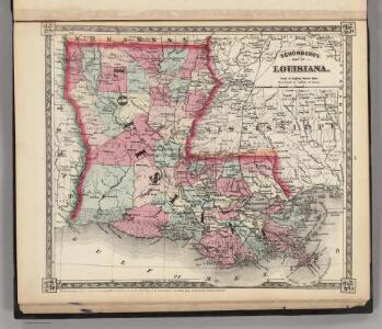 Schonberg's Map of Louisiana.