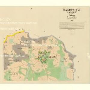 Maniowitz (Manowic) - c4472-1-002 - Kaiserpflichtexemplar der Landkarten des stabilen Katasters