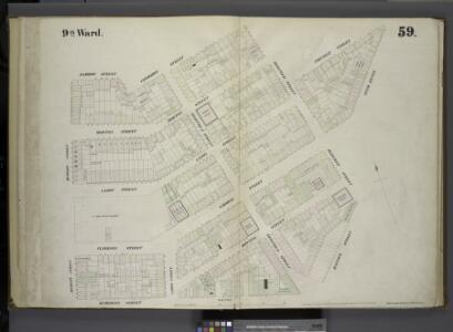 [Plate 59: Map bounded by Barrow Street, Commerce Street, Bleecker Street, Cornelia Street, Sixth Avenue, Hancock Street, Hamersly Street, Hudson Street.]