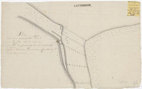 Schets van den westelijkste mond der Krabbe, met de daar in gevonde dieptens ... 1798