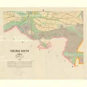 Nieder Reith - c1356-2-005 - Kaiserpflichtexemplar der Landkarten des stabilen Katasters