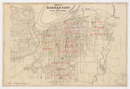 Map of Kansas City : showing public park system