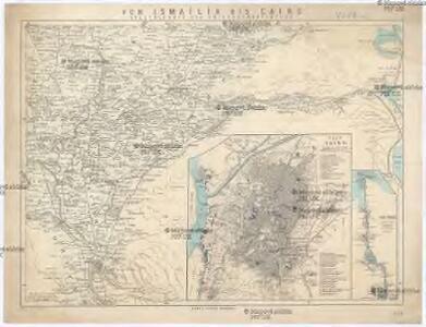 Specialkarte des Kriegsschauplatzes von Ismailia bis Cairo