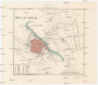 Karte vom Môsul und Umgebung