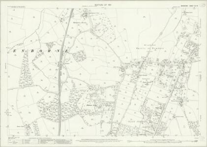 Berkshire XLII.8 (includes: Enborne; Greenham; Newbury) - 25 Inch Map