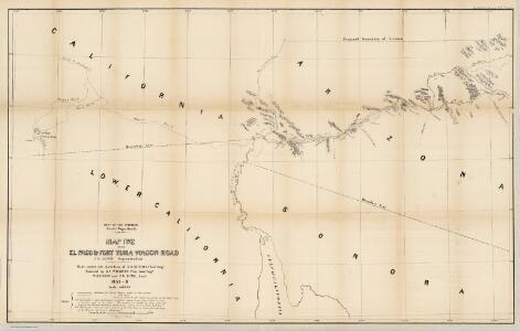Map No. 2 of the El Paso & Fort Yuma Wagon Road.