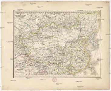 Übersichts-Karte von Ost-Hoch-Asien
