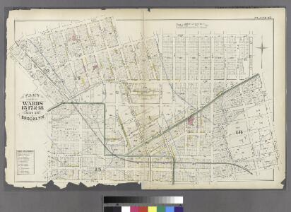 Plate 25: Part of Wards 15, 17, &18. City of Brooklyn.