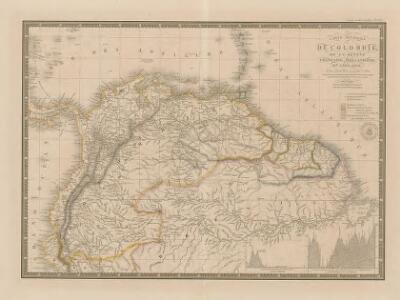 Carte Générale de Colombie de la Guyane Francaise, Hollandaise et Anglaise.