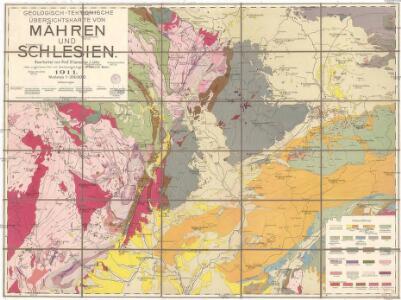 Geologisch-tektonische Übersichtskarte von Mähren und Schlesien