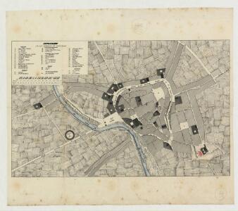 Manuscrit: Plano de la ciudad de Vich