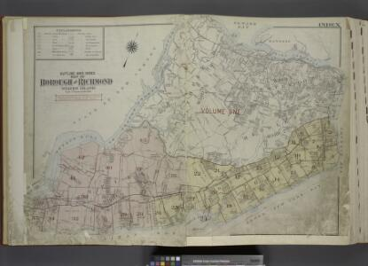 Outline & Index Map of The Borough of Richmond        (Staten Island); Explanation; Note.