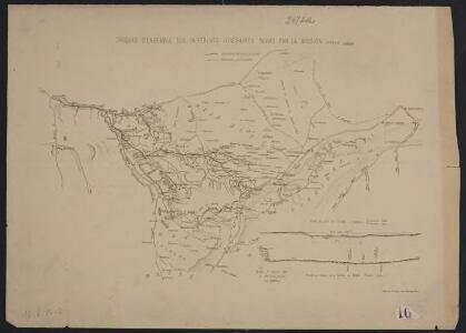 Croquis d'ensemble des différents itinéraires suivis par la mission [Galliéni]
