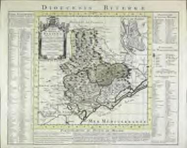Carte du diocese de Beziers
