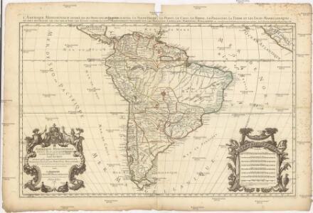 Amerique Meridionale divisée en ses principales parties ou sont distingués les vns des autres les estats suivant qu'ils appartiennent presentement aux François, Castillans, Portugais, Hollandois, &c