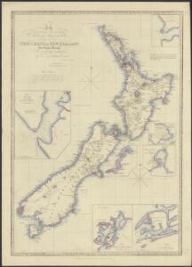 To the Right Honourable the Secretary of State for the Colonies, &c., &c., &c, this chart of New Zealand from original surveys is respectfully dedicated by his very obedient servant James Wyld
