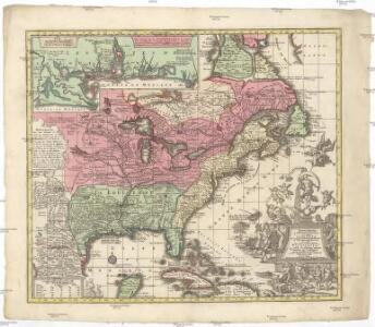 Accurata delineatio celeberrimae regionis Ludovicianae vel Gallice Louisiane od. Canadae et Floridae adpellatione in Septemtrionali America