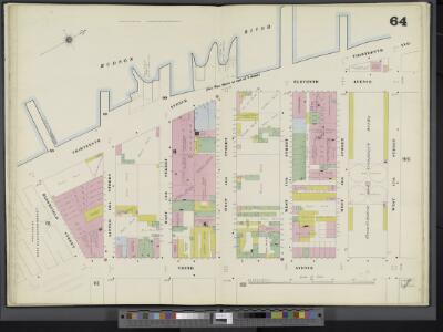 Manhattan, V. 3, Double Page Plate No. 64 [Map bounded by Hudson River, W. 17th St., 10th Ave., Bloomfield St.]