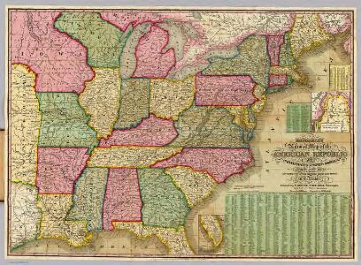 Mitchell's National Map of the American Republic