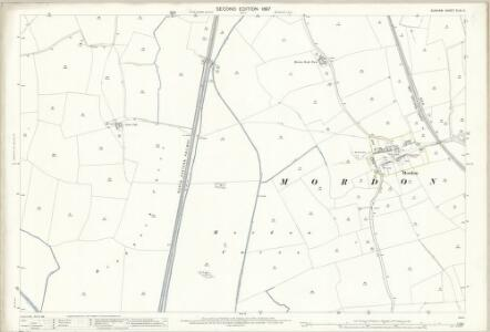Durham XLIII.11 (includes: Bradbury; Mordon) - 25 Inch Map